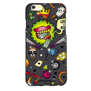 Cover per Iphone 5-6-7-8 Skull and Money