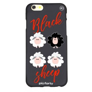 Cover per Iphone 5-6-7-8 Black sheep