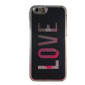 Cover per Iphone con liquido Love