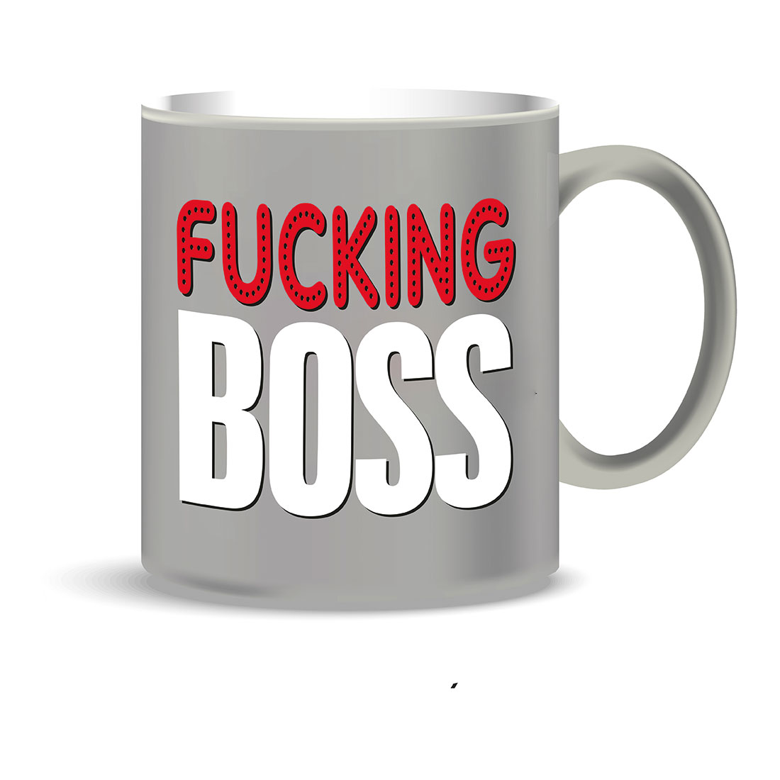 Mug grigia FUKING BOSS